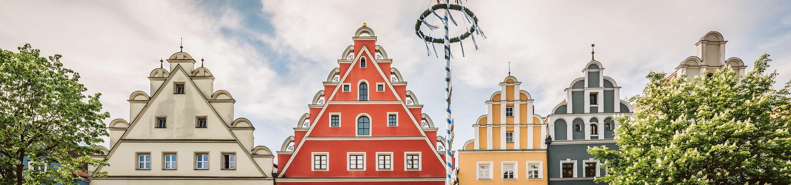 Die bunten Giebel der Weidener Altstadt