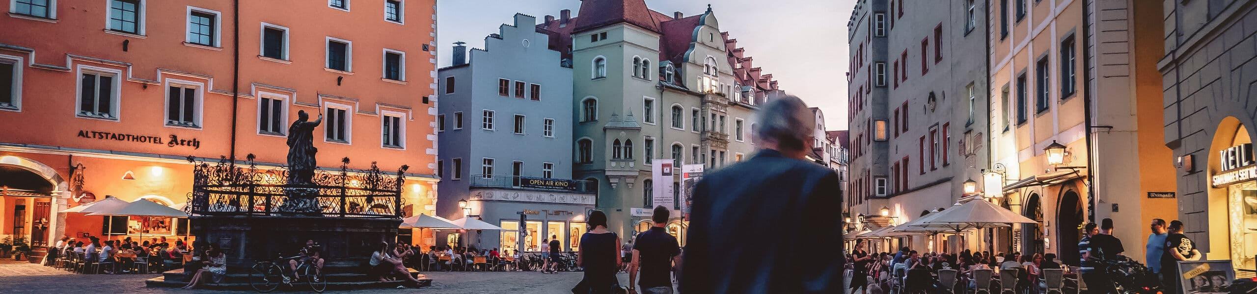 Sommer auf dem Regensburger Haidplatz