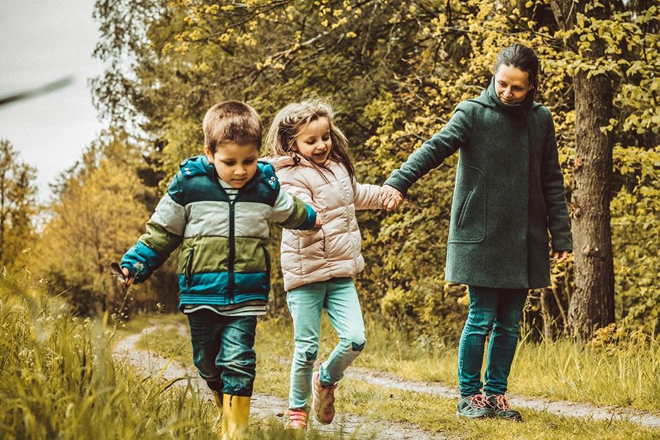 Judith und ihre beiden Kinder