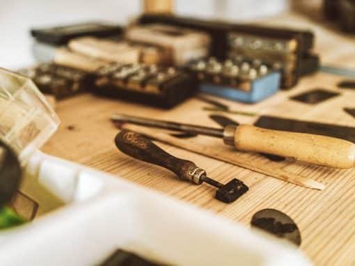 Blick auf verschiedenes Werkzeug
