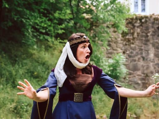 Eindrücke von der Zeitreise des OVIGO Theaters auf Burg Murach