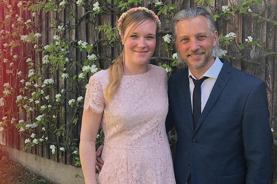 Fabian Lutz mit seiner Frau