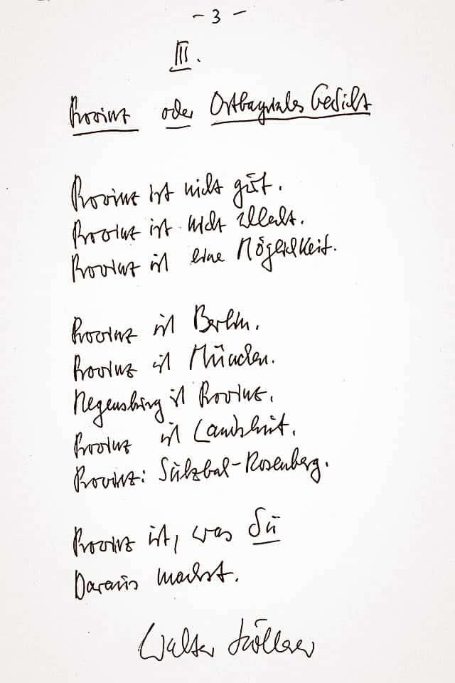 """Gedicht """"Provinz"""" von Walter Höllerer"""
