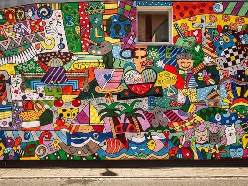 Graffittiwand in der Gartenstraße