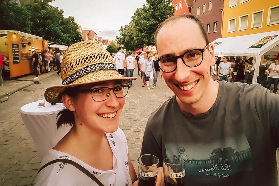 Andreas mit seiner Freundin