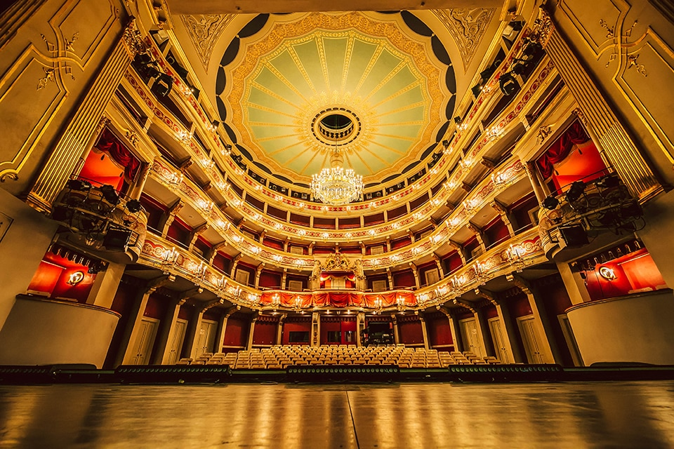 Blick in das Theater am Bismarckplatz