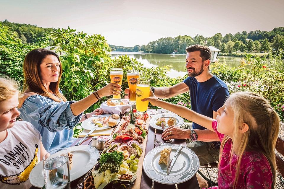 Biergarten am Hammersee in Bodenwöhr
