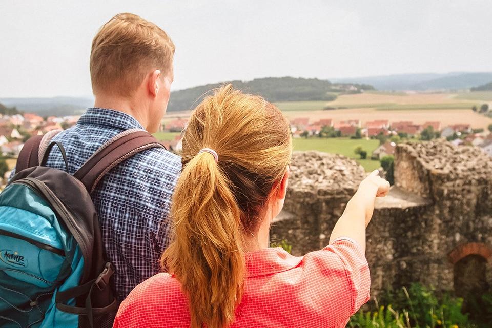 Blick von Burg Lupburg aus