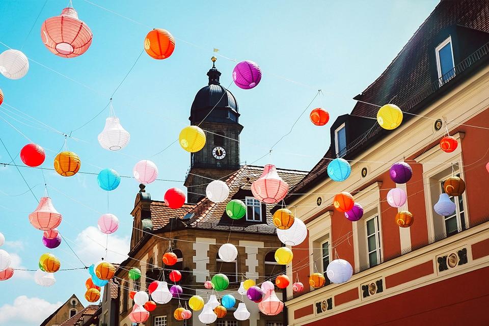 Lampions in der Amberger Altstadt