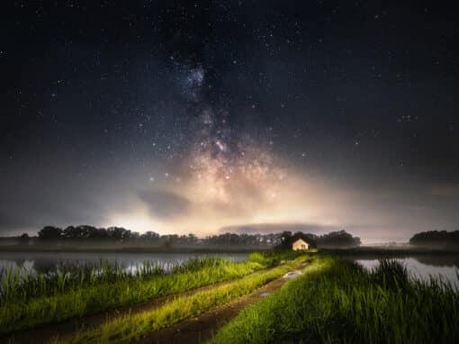 Nachts am Weiher