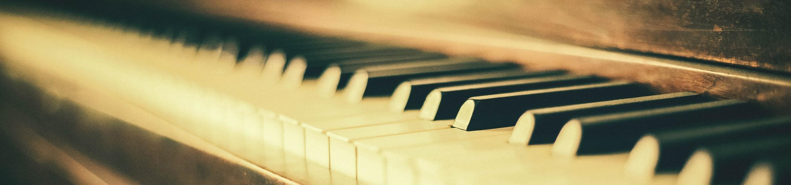 Tastatur eines Klaviers
