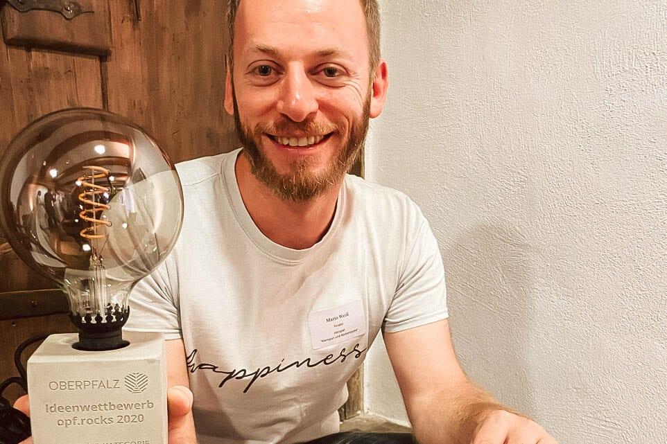 Preisverleihung opf.rocks Ideenwettbewerb 2020 - Mario Weiß