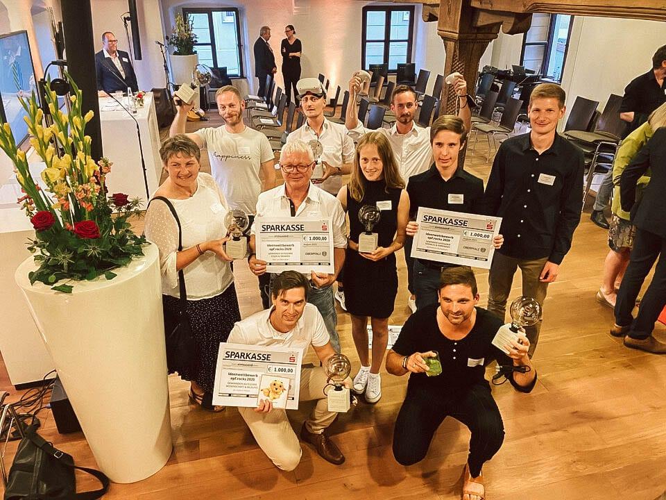 Preisverleihung opf.rocks Ideenwettbewerb 2020 - alle Preisträg